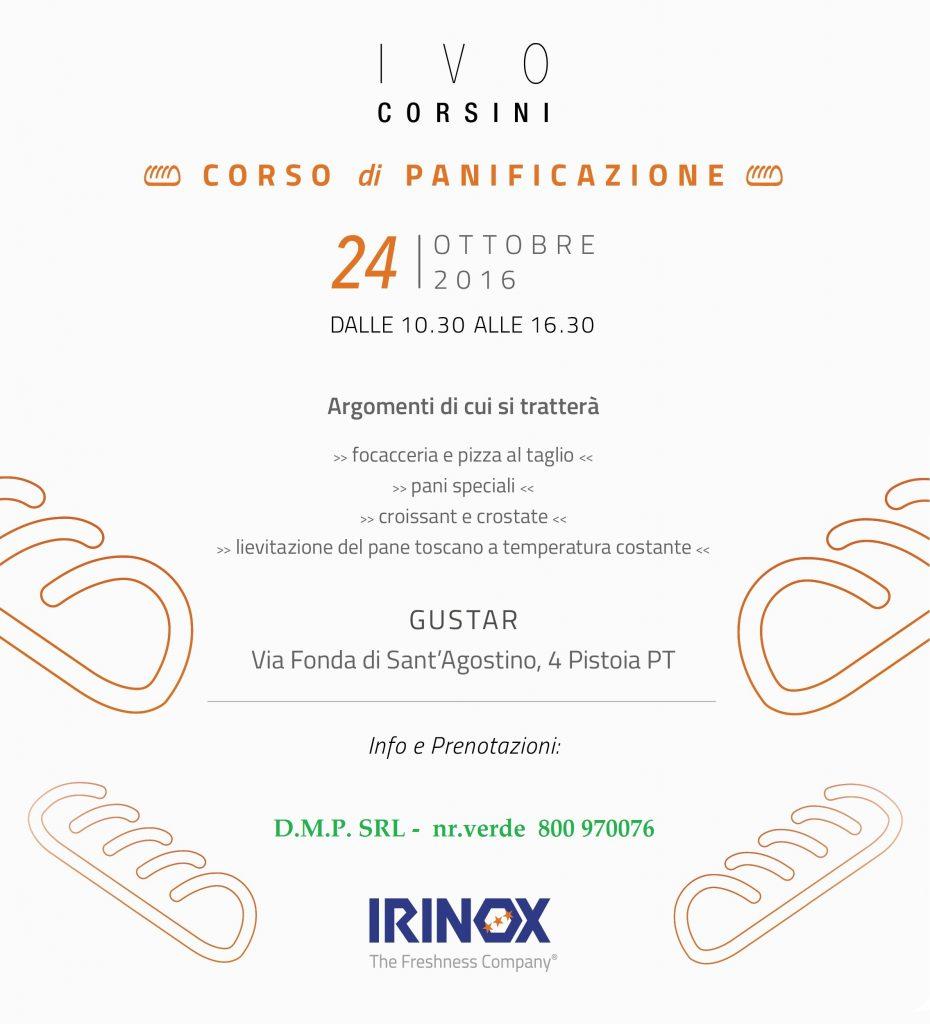 LOCANDINA IRINOX DIMOSTRAZIONE PANIFICAZIONE 24.10.2016 IVO CORSINI